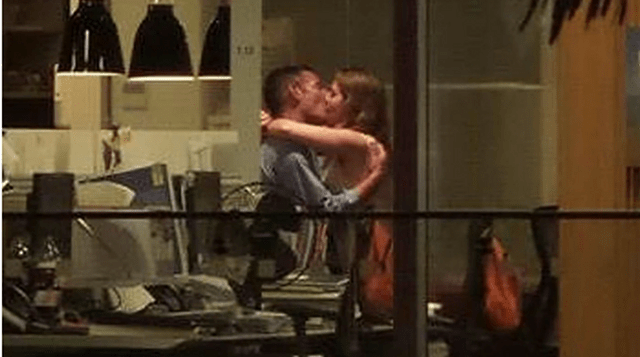 Couple caught fucking in office by entire pub